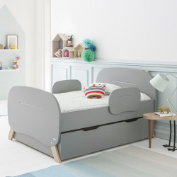 pack lit vo maelys matelas tiroir gris koala maelkoak01e. Black Bedroom Furniture Sets. Home Design Ideas