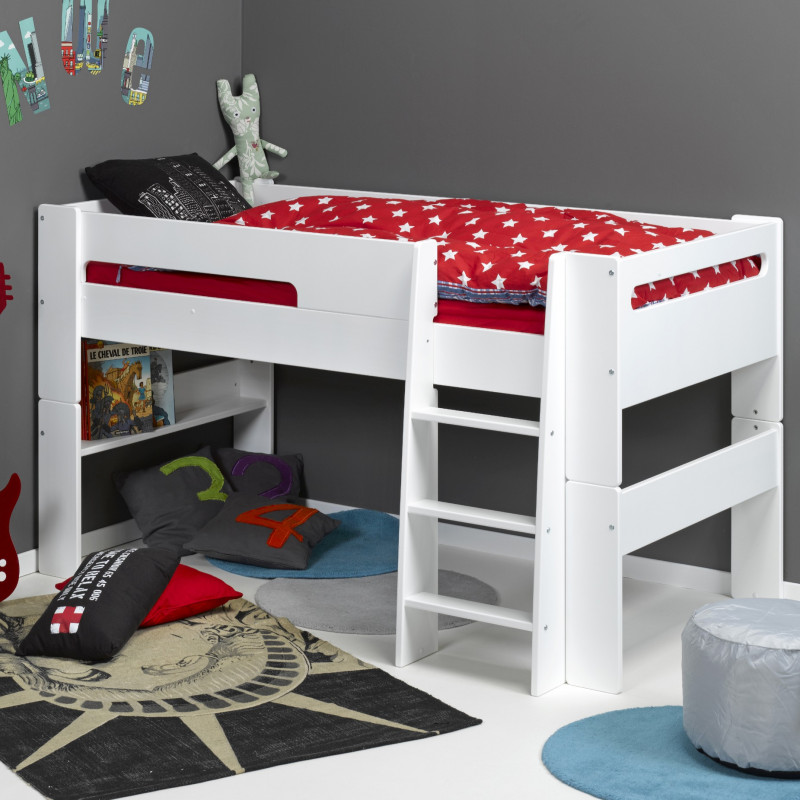 Focus sur le lit en hauteur ou lit mezzanine le roi du gain de place a - Lit mi hauteur cabane ...