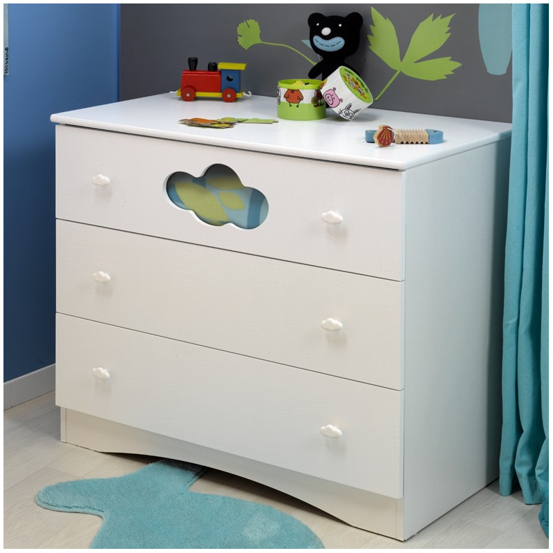 commode bebe blanc nuage. Black Bedroom Furniture Sets. Home Design Ideas