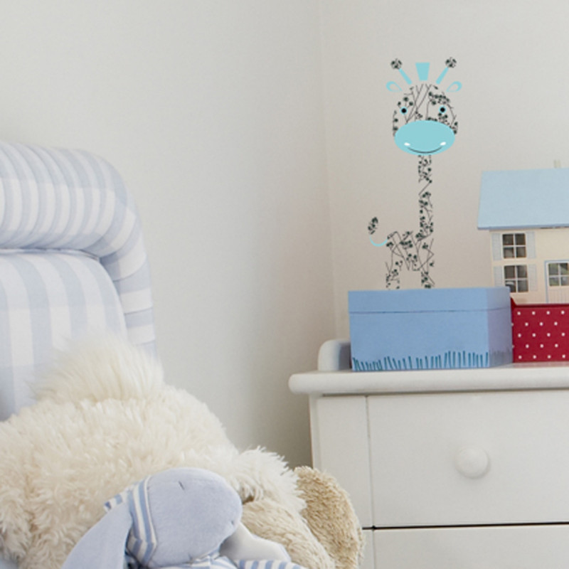 Mini girafe bleue 13x31
