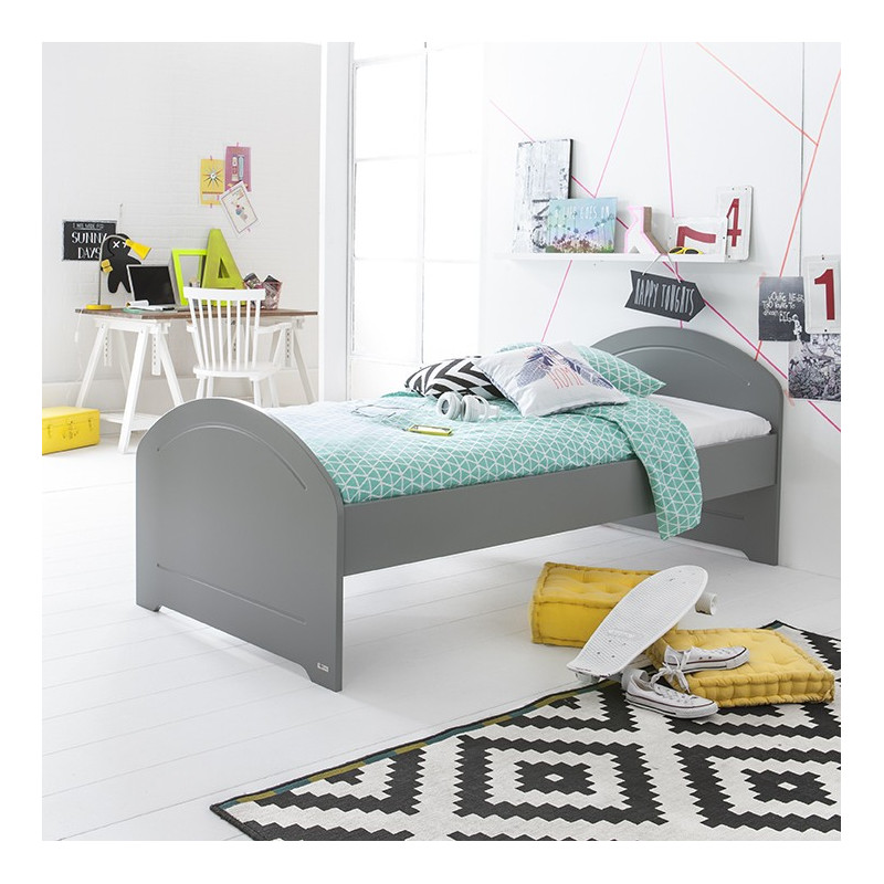 Lit junior 90x200 gris koala ALBAN