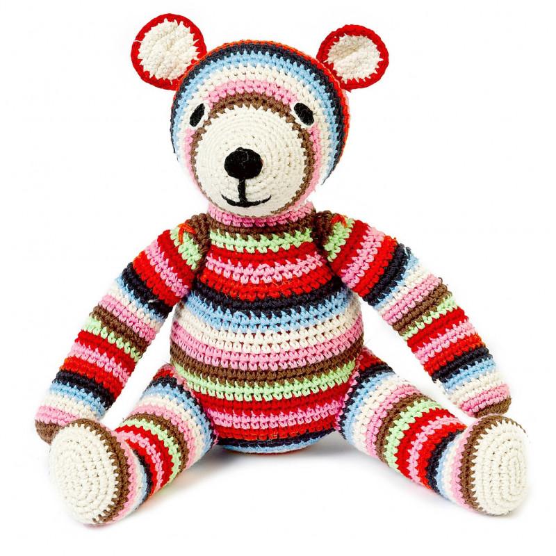 Doudou teddy multicolore