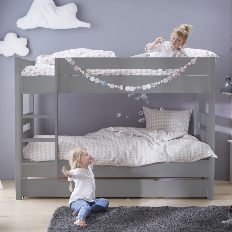 Bunk Bed And Pull Out Bed 90x190 Koala Grey