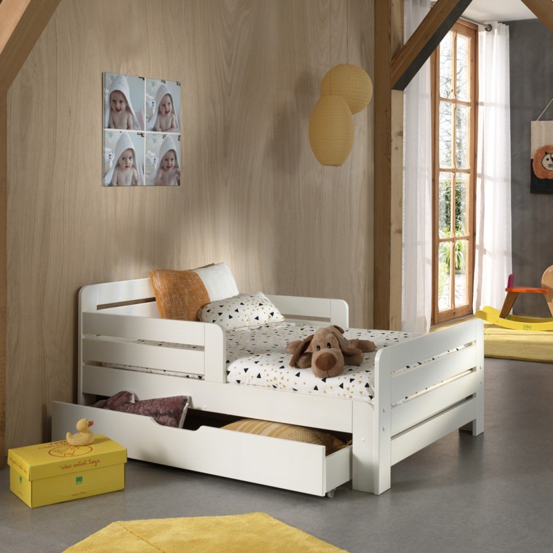 bed with storage drawer and mattress