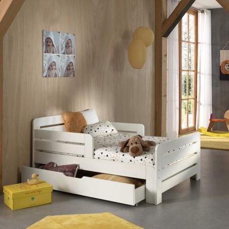 lit évolutif avec tiroir de rangement et matelas