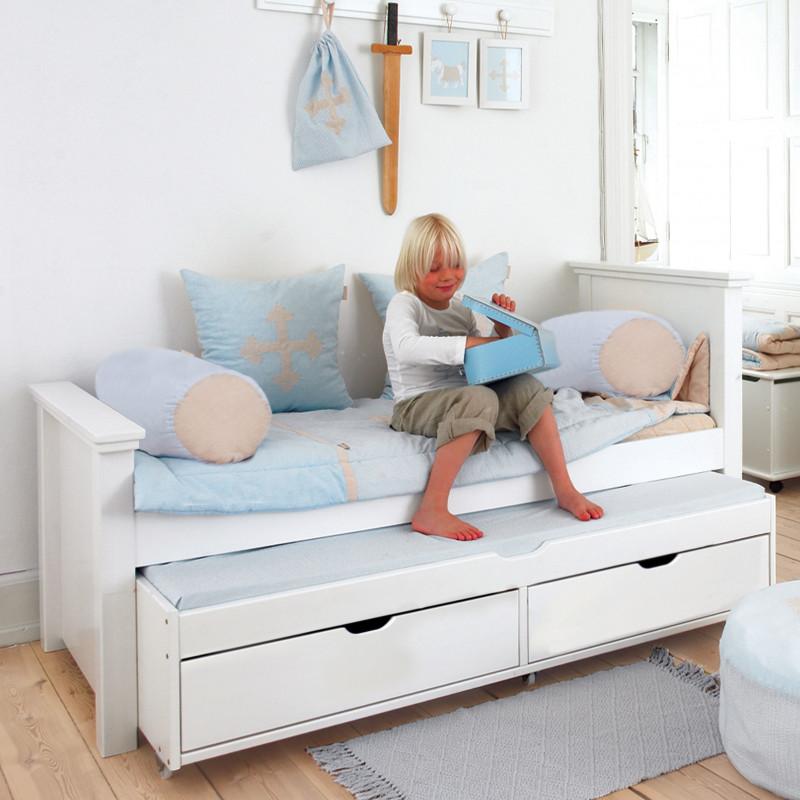 Lit 90x200 avec lit gigogne et tiroirs alfred et compagnie - Lit enfant avec tiroire ...