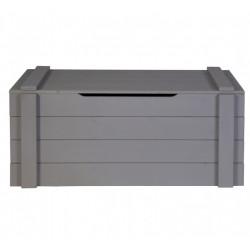 Coffre 90x42x42 bois massif gris acier