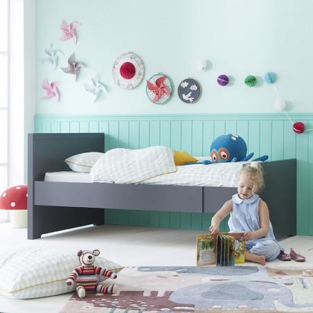 lit enfant évolutif avec matelas gris anthracite