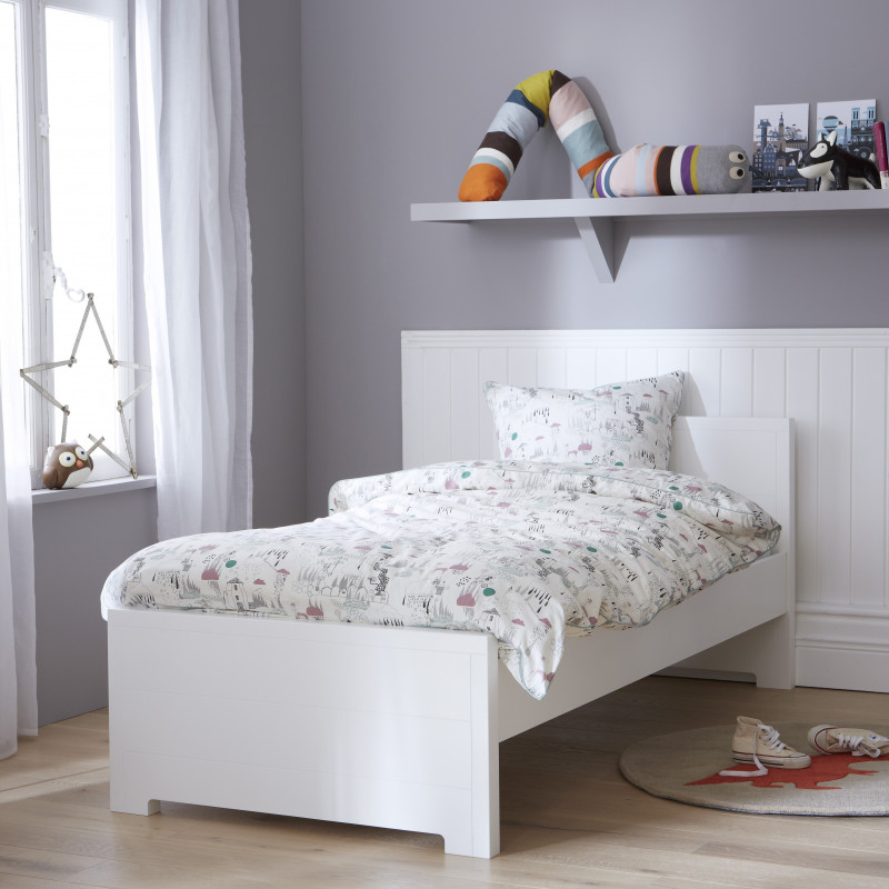 lit gigogne 90x200 blanc fabrication fran aise alfred et compagnie. Black Bedroom Furniture Sets. Home Design Ideas