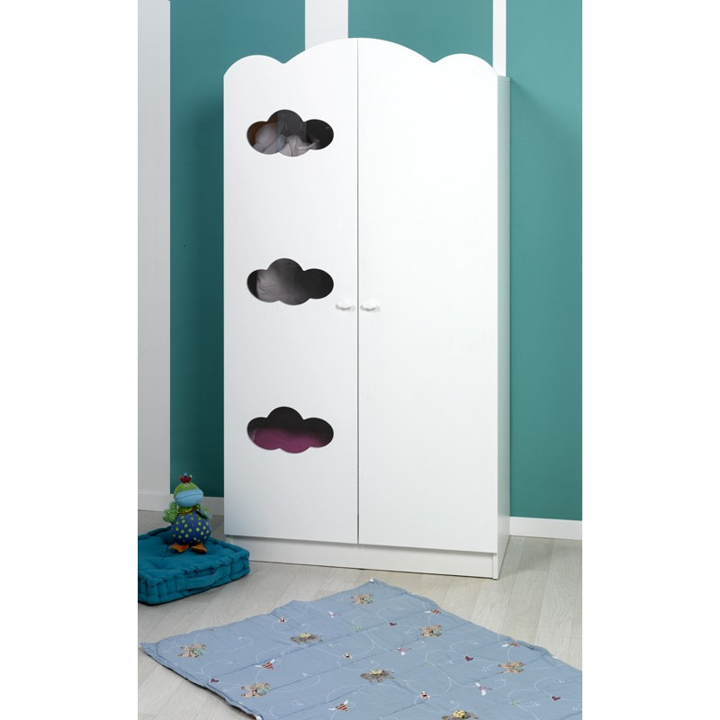 armoire bebe blanc nuages. Black Bedroom Furniture Sets. Home Design Ideas