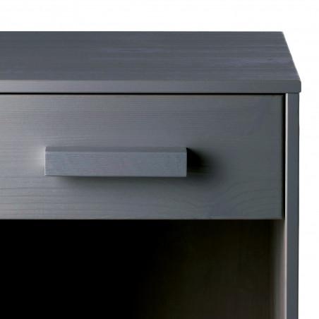 table de chevet en bois gris acier