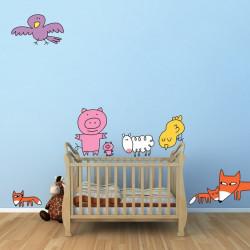 sticker mural animaux soledad