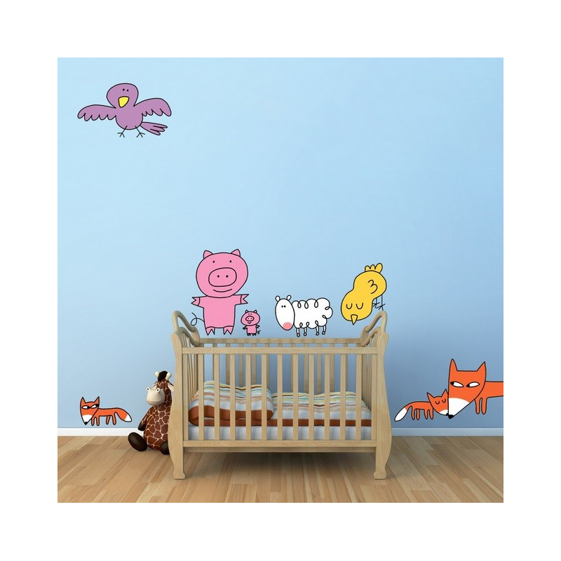 sticker mural animaux soledad
