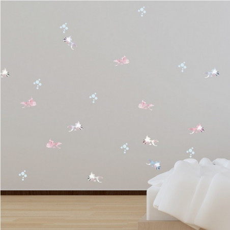 Sticker mural poisson