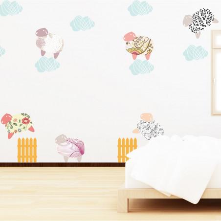 sticker mural pour chambre enfant mouton