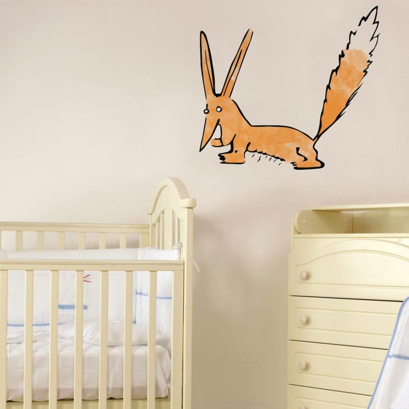 Le renard aquarelle 80x72