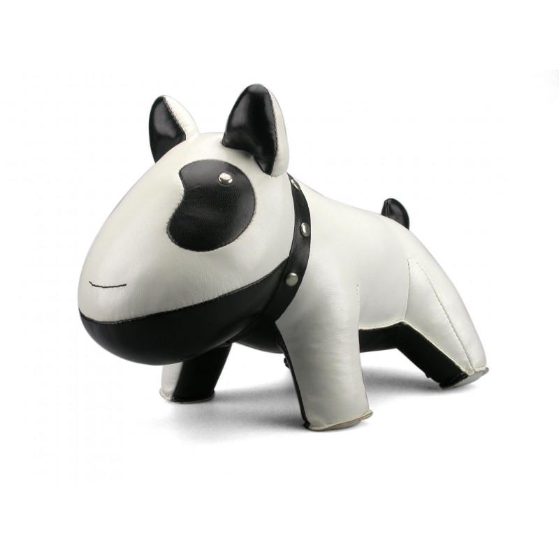 Serre-livre chien blanc