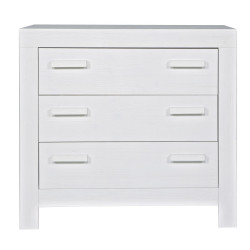 Commode structure pin 3 tiroirs blanc