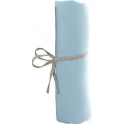 drap housse en jersey de coton bleu ciel pour lit bébé 70x140