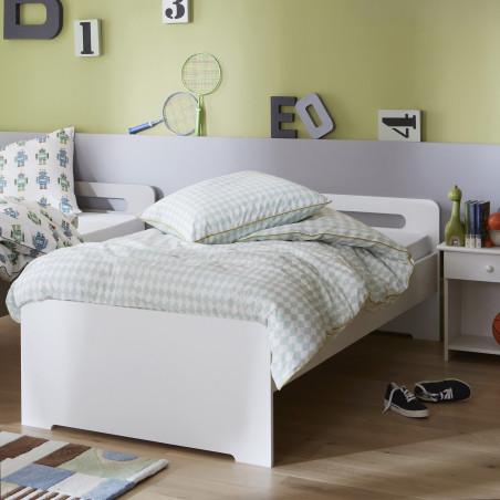 lit ado en bois blanc