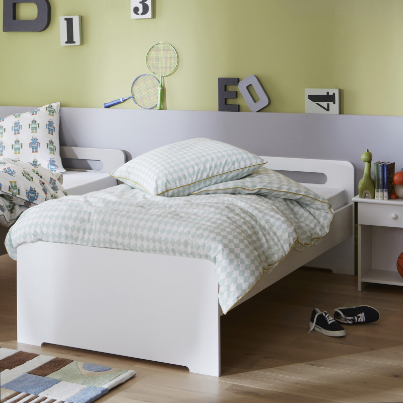 lit gigogne promo avec sommiers blanc design alfred et. Black Bedroom Furniture Sets. Home Design Ideas