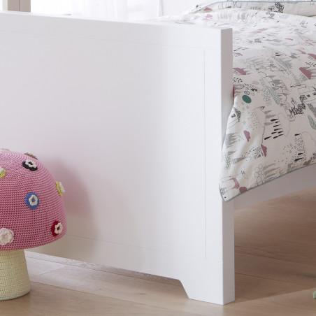 Pieds lit gigogne pour enfant blanc 90x200cm