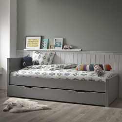 lit gigogne promo avec sommiers gris koala oscar alfred et compagnie. Black Bedroom Furniture Sets. Home Design Ideas