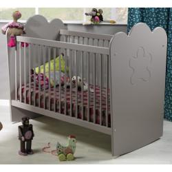 lit bébé à barreaux lin
