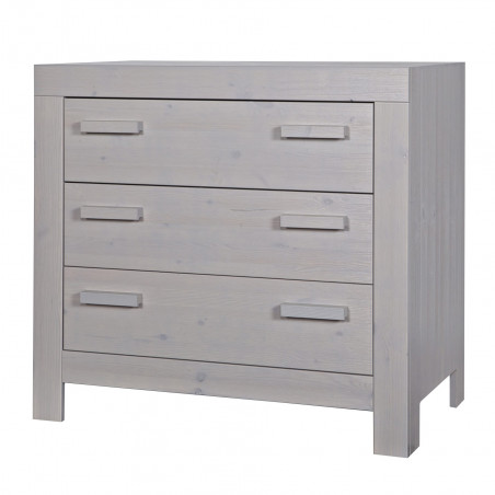commode 3 tiroirs en pin massif
