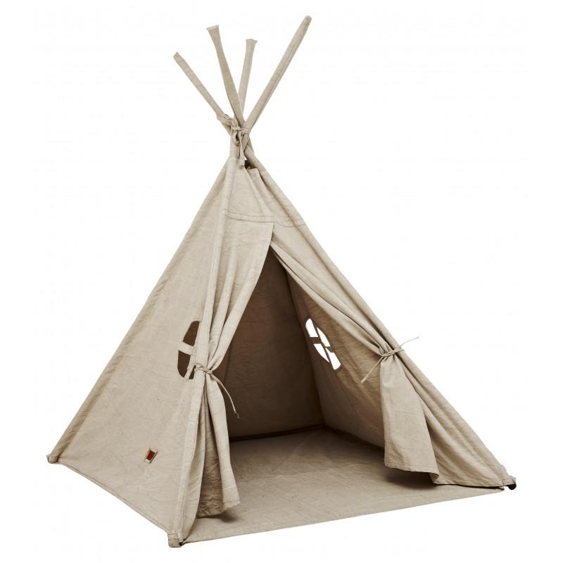 Tente TIPI 150x150x160 cowboy coton et métal