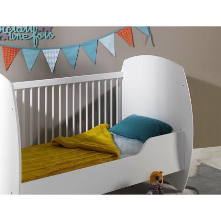Lit évolutif pour bébé transformable en lit enfant 70x140