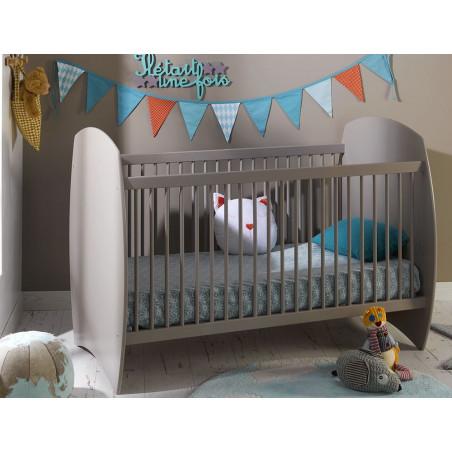 Lit pour bébé type évolutif couleur lin 70x140