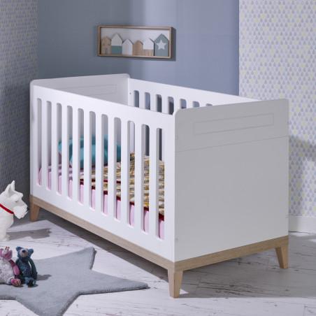 lit bébé évolutif blanc 70x140