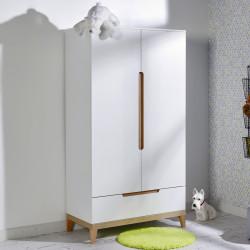 Armoire deux portes et 1 tiroir blanche