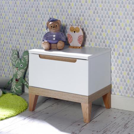 table de chevet 1 tiroir pour chambre bébé