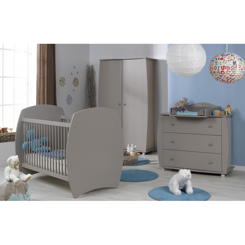 Chambre bébé 70x140 essentielle lin Violette