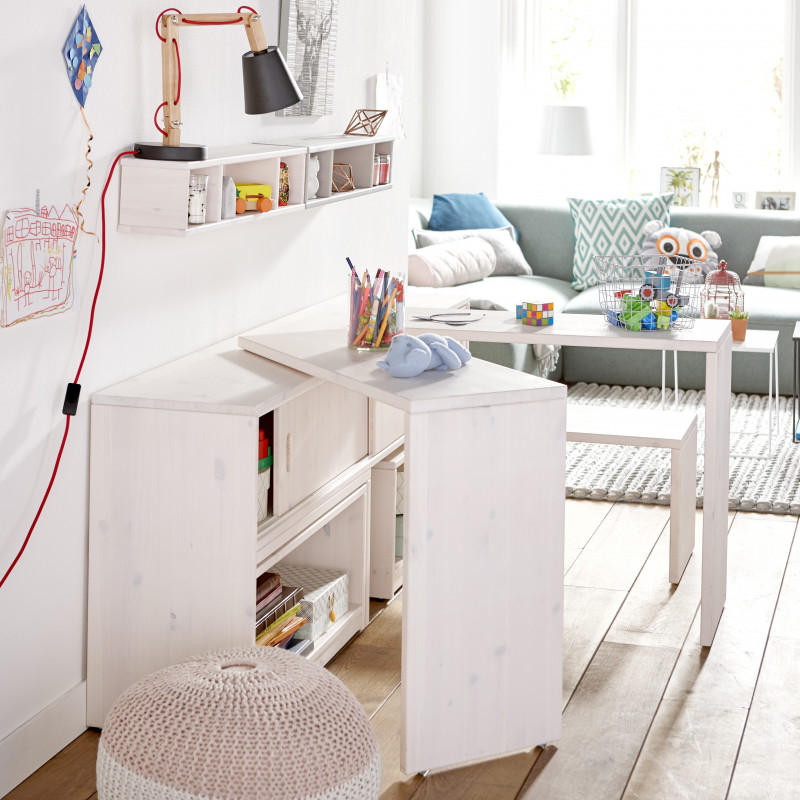Multifunctional Kids Storage Integrated Tables Benches And Shelves
