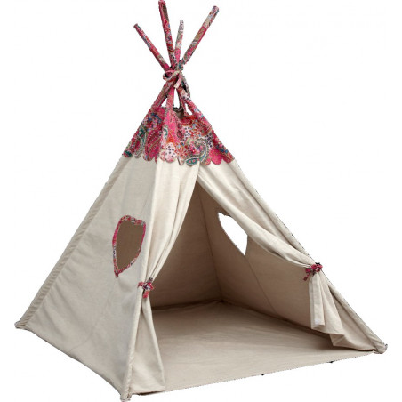 Lit cabane type tente TIPI Alfred et Compagnie