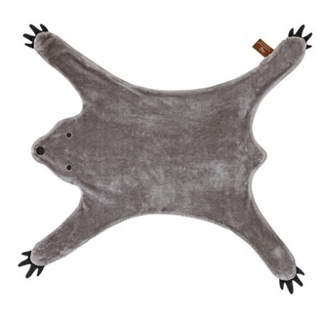 tapis ours gris