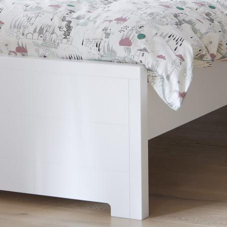 lit enfant 90x200 blanc