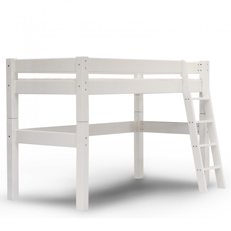 Lit mi-hauteur H140 90x200 Lilja blanc