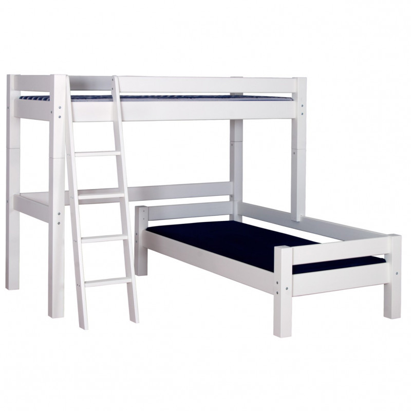 lit superpos 90x200 en angle blanc alfred et compagnie. Black Bedroom Furniture Sets. Home Design Ideas