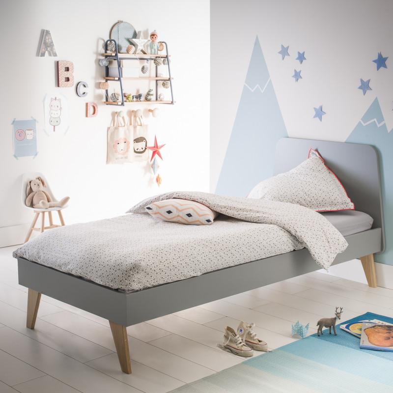 lit enfant gris style scandinave