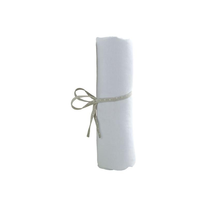drap housse jersey blanc 60x120 dh60blct02. Black Bedroom Furniture Sets. Home Design Ideas