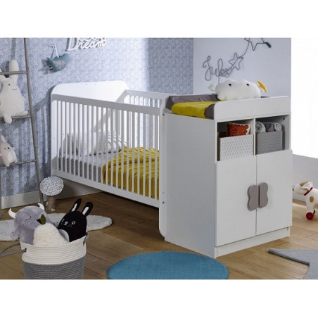 Evolving baby cot with integrated storage space Mathis