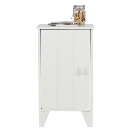 Table de chevet 63x37x35 Alix blanc, Couleur Blanc, L, l,...