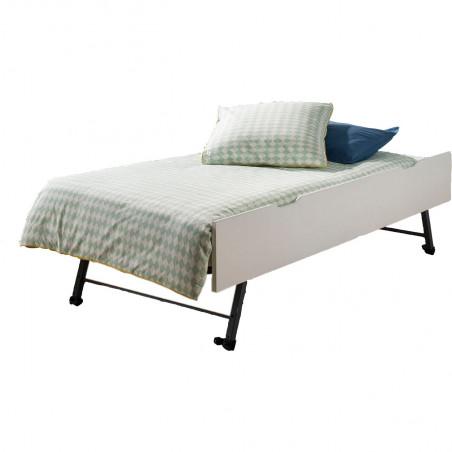 tiroir lit gigogne blanc 90x200