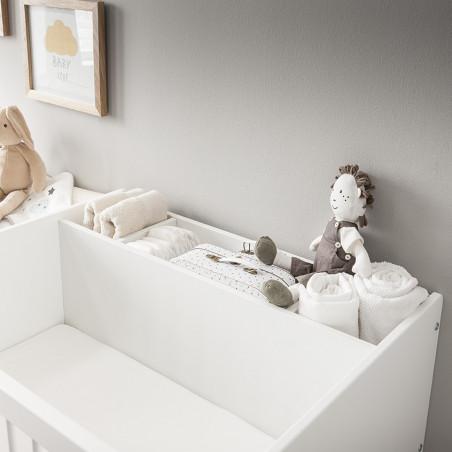 lit bébé évolutif avec plan à langer évolutif