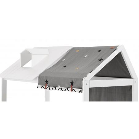 Lit cabane Rose et Timothée avec angle coloris blanc