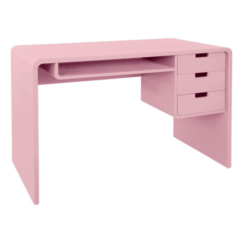 bureau à casier 119x67 rose
